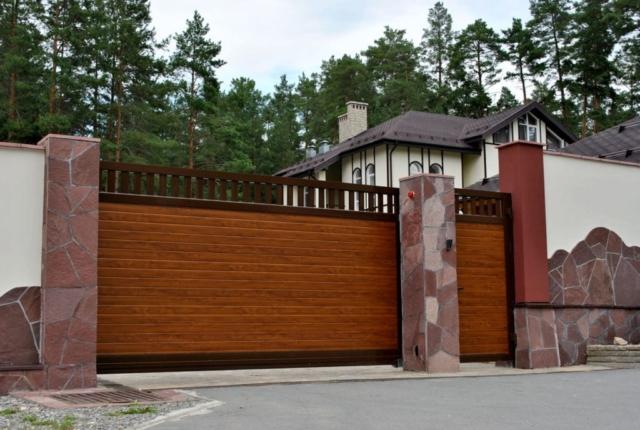 откатные ворота в Ростове-на-Дону на заказ