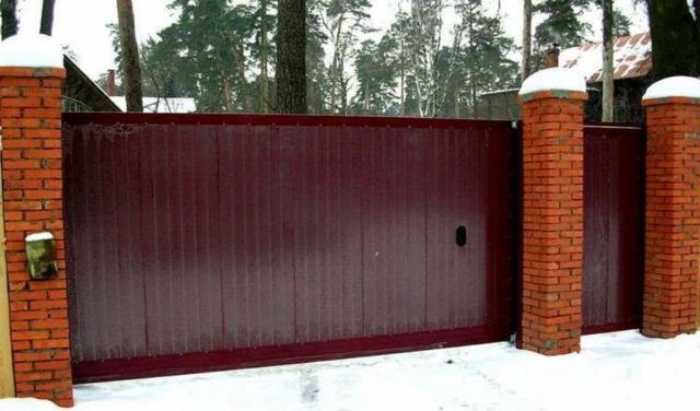 откатные ворота под ключ цена с установкой
