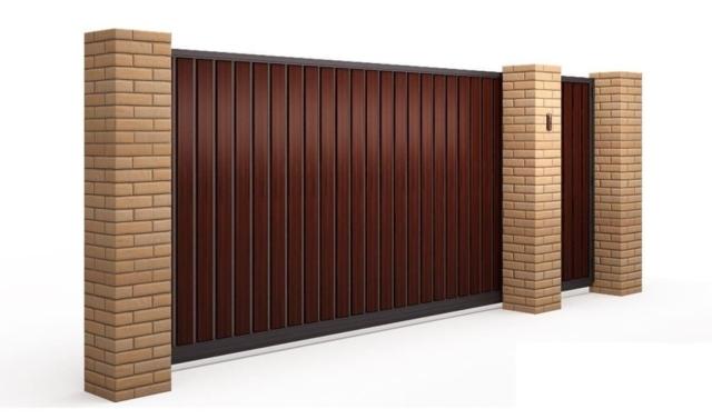 установка откатных ворот под ключ