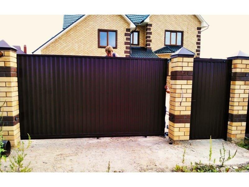 цена откатных ворот в Ростове